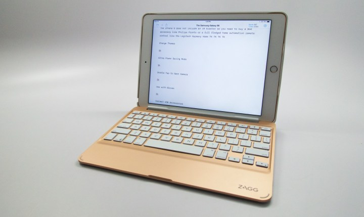 The Zagg Slim Book is a great iPad keyboard case.