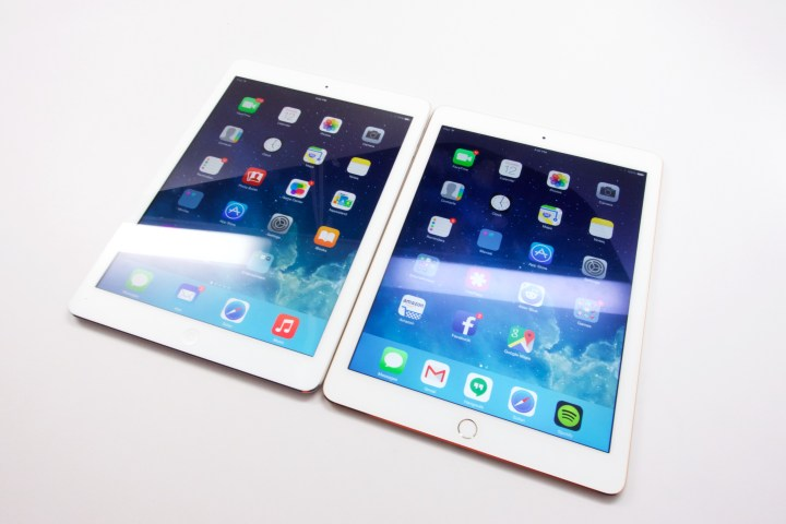 The new iPad Air 2 screen doesn't reflect light as much.