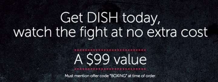 Switch to DISH to watch Mayweather vs Pacquiao free.