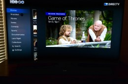 Samsung delivers access to many sources of entertainment right on the HDTV.