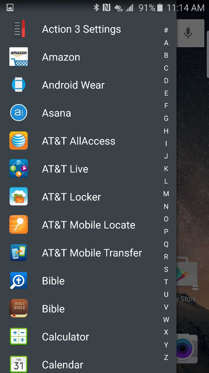 action launcher 3 app drawer