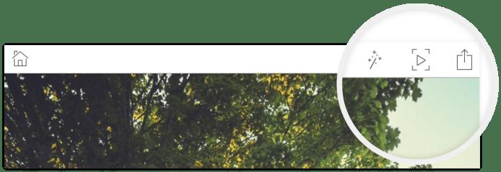 adobe slate app menu buttons