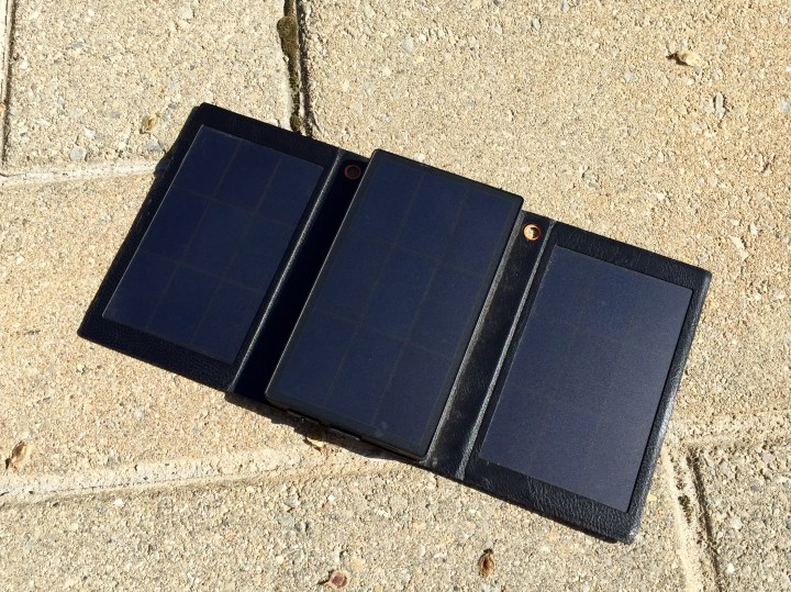 The Solpro Helios Smart solar charger unfolds to deliver faster charging.