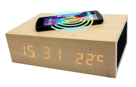 olixar qi-tone alarm clock bluetooth speaker