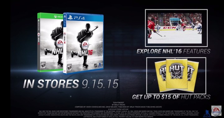 NHL 16 Release Date Confirmed
