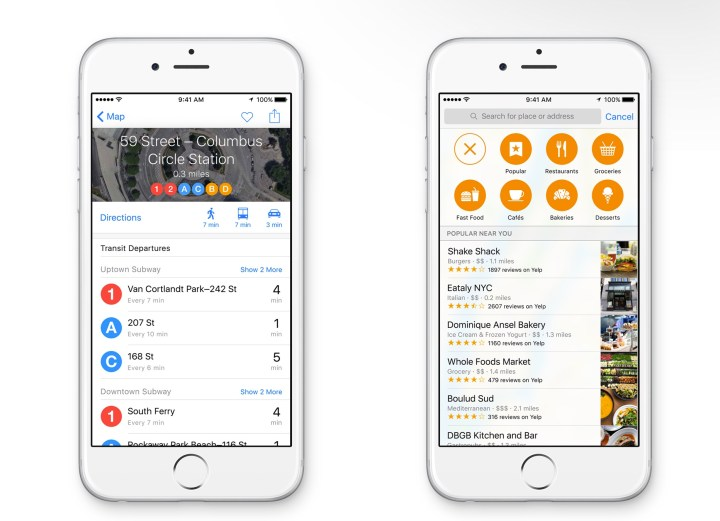 New transit options make it easier to get around major cities with iOS 9.