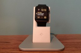 The Twelve South HiRise for Apple Watch on my nightstand.