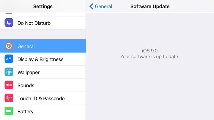 How to force the iPhone to see the iOS 9 beta download.