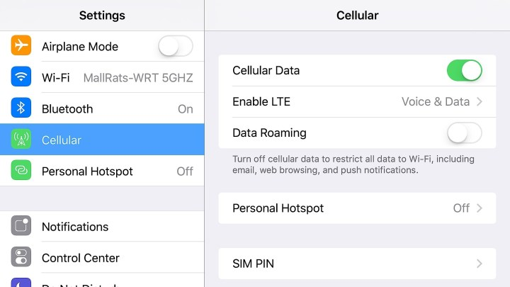 Fix Cellular data not turning on when you leave WiFi.