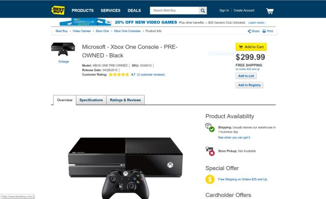 Best Buy Xbox One Deal