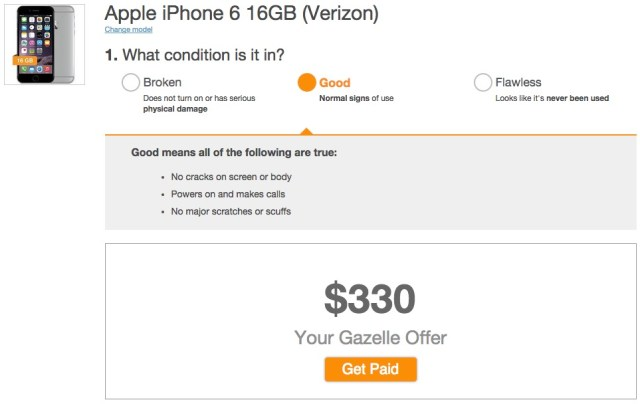 Gazelle was the worst deal, but they have perhaps the best and quickest method for trading in your iPhone.