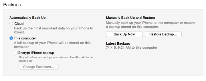 how to decide where to back up on icloud