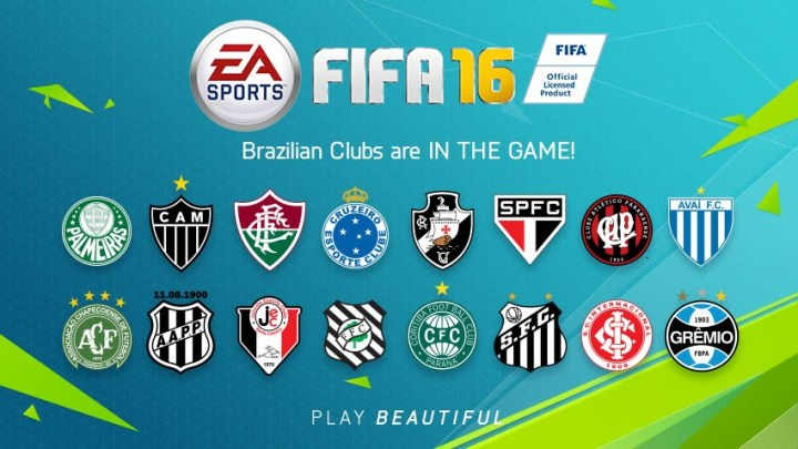 FIFA 16 Brazil teams are here after missing out on FIFA 15.