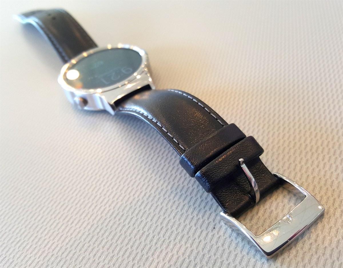 hawei watch black leather band