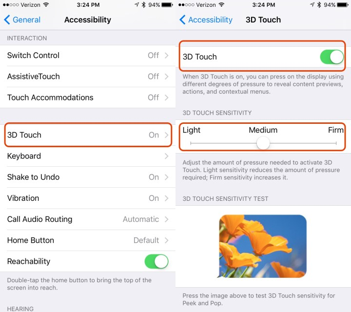 How to Change 3D Touch Settings