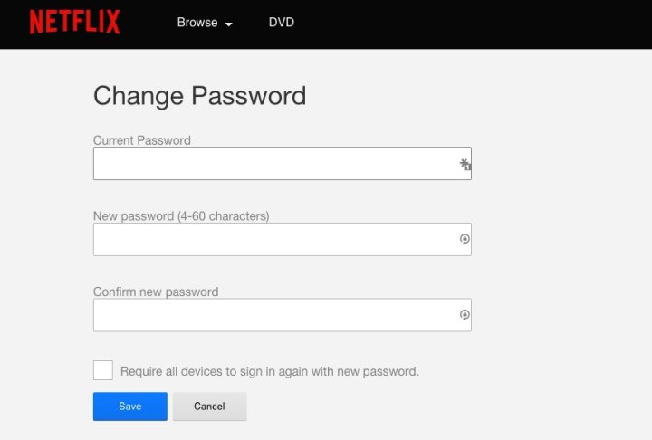 How to change your Netflix password.