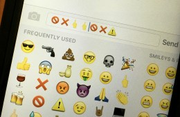 Disable the middle finger emoji on the iPhone running iOS 9.1.