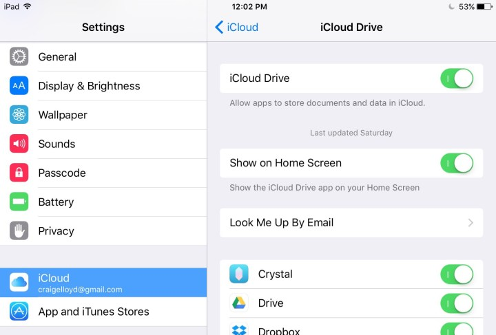 how to add one app to icloud