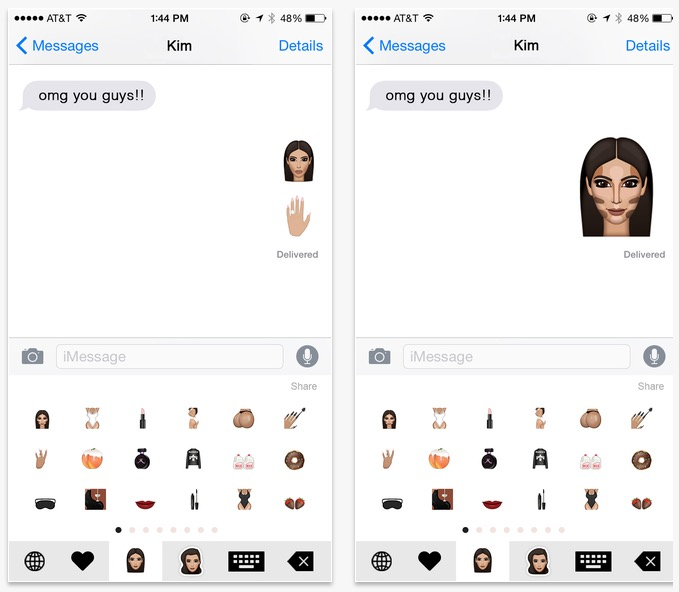 You can send Kimoji to anyone, in many apps, even if they don't have the Kim Kardashian emoji app.