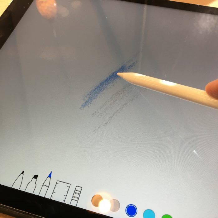 shading with the apple pencil in notes for ios
