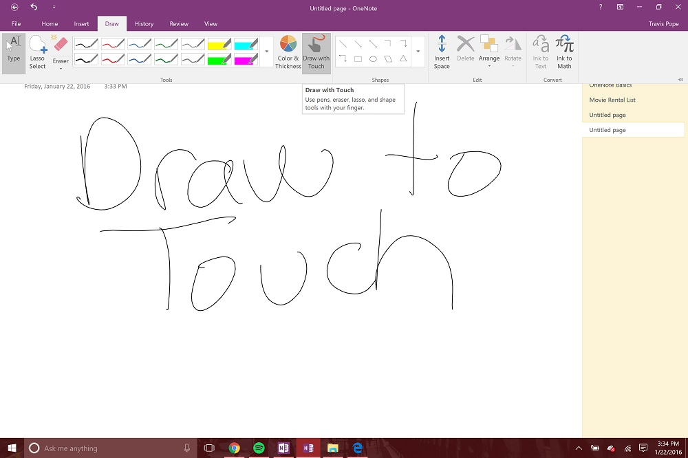 onenote mac how to take notes