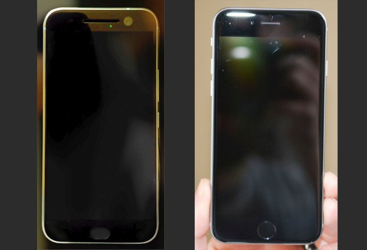 HTC One M10 (left) vs iPhone 6 (Right) - Image Credit: Droid-Life