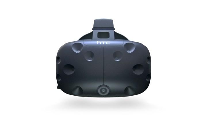 The HTC Vive virtual reality headset.