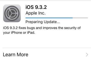iOS 9.3.2 update install