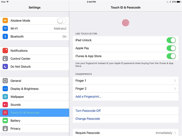 Set Up Touch ID Completely