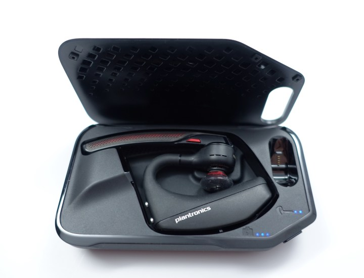 Use the Voyager 5200 Charging case for protection while traveling, or as a desktop stand.