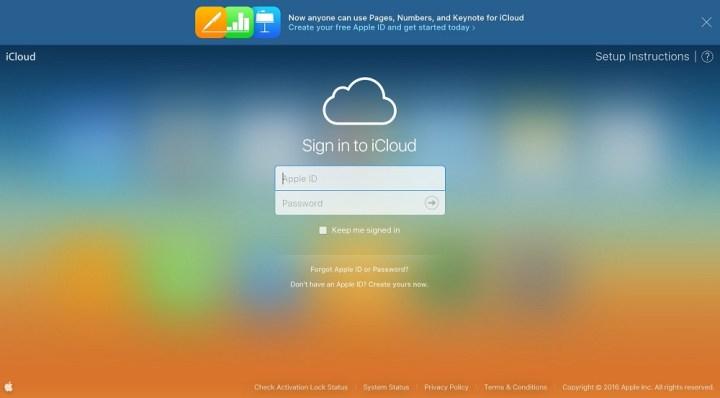 iCloud Homepage