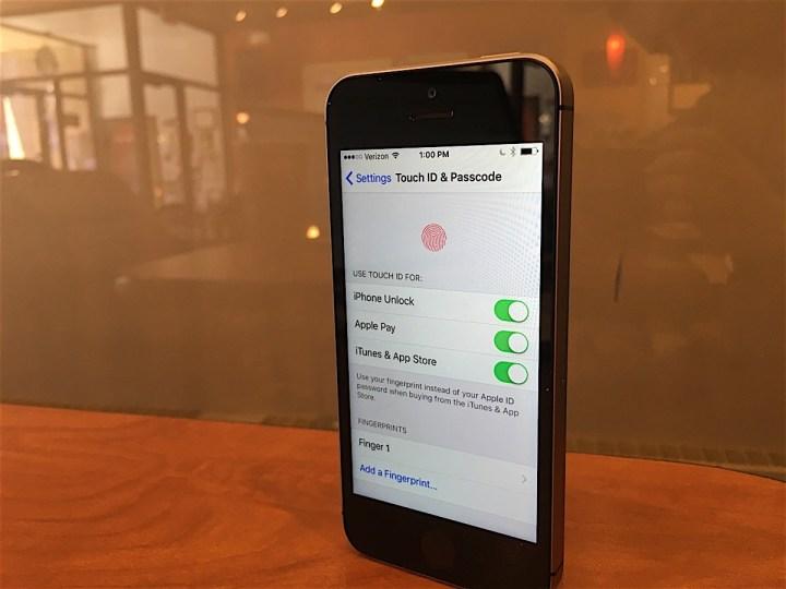 Finish Touch ID Setup