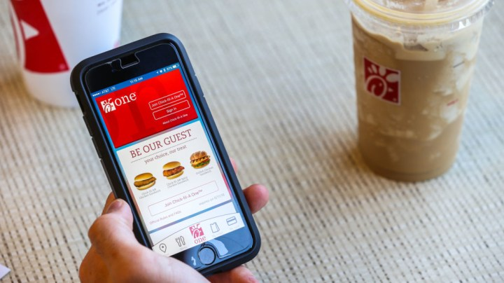 Use the Chick fil A app to get free food -- and skip the line.