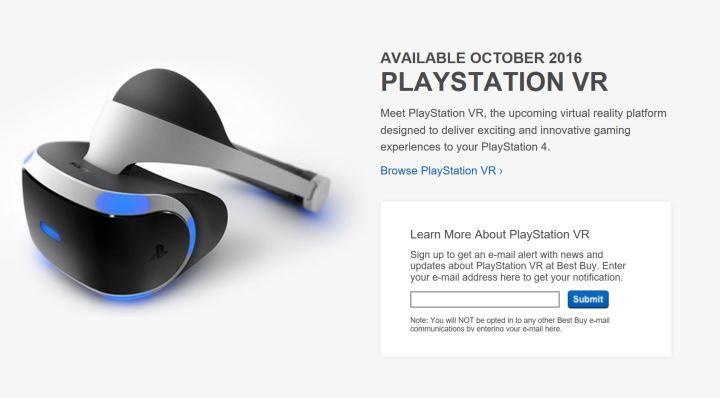best buy playstation vr pre-orders