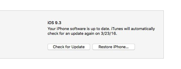 Start the downgrade to go back to iOS 9.