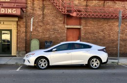 This is the Chevy Volt. It's Electric, but it comes with a gas backup.