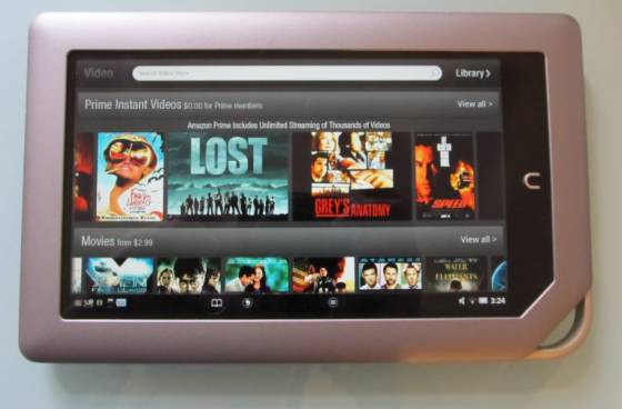 Amazon Video on Nook Tablet