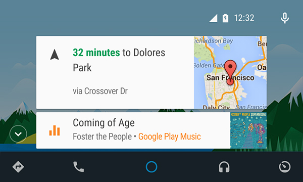 Android Auto looks a lot like Google Now.
