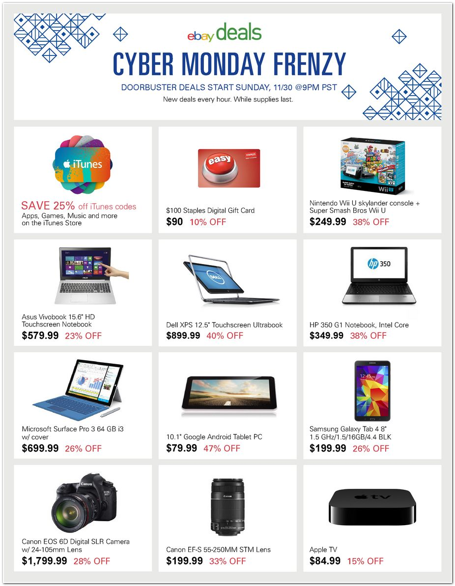 Are there any cyber monday deals on ipad mini