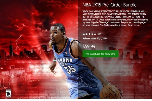 Here's when you can play the digital NBA 2K15 release.
