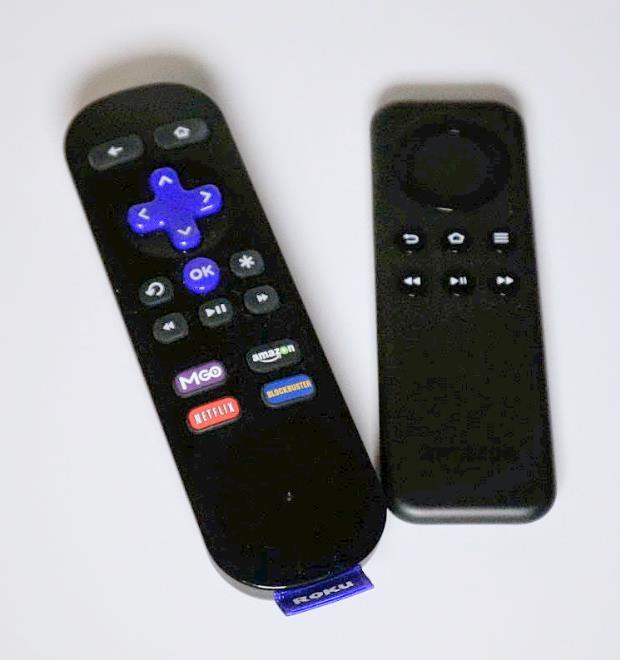 Fire TV Stick vs Roku Streaming Stick remotes