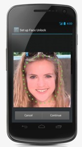 Galaxy Nexus Face Unlock