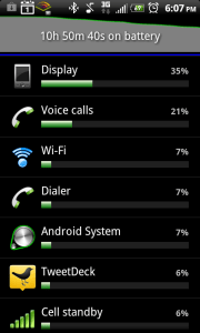 HTC ThunderBolt Extended Battery Use