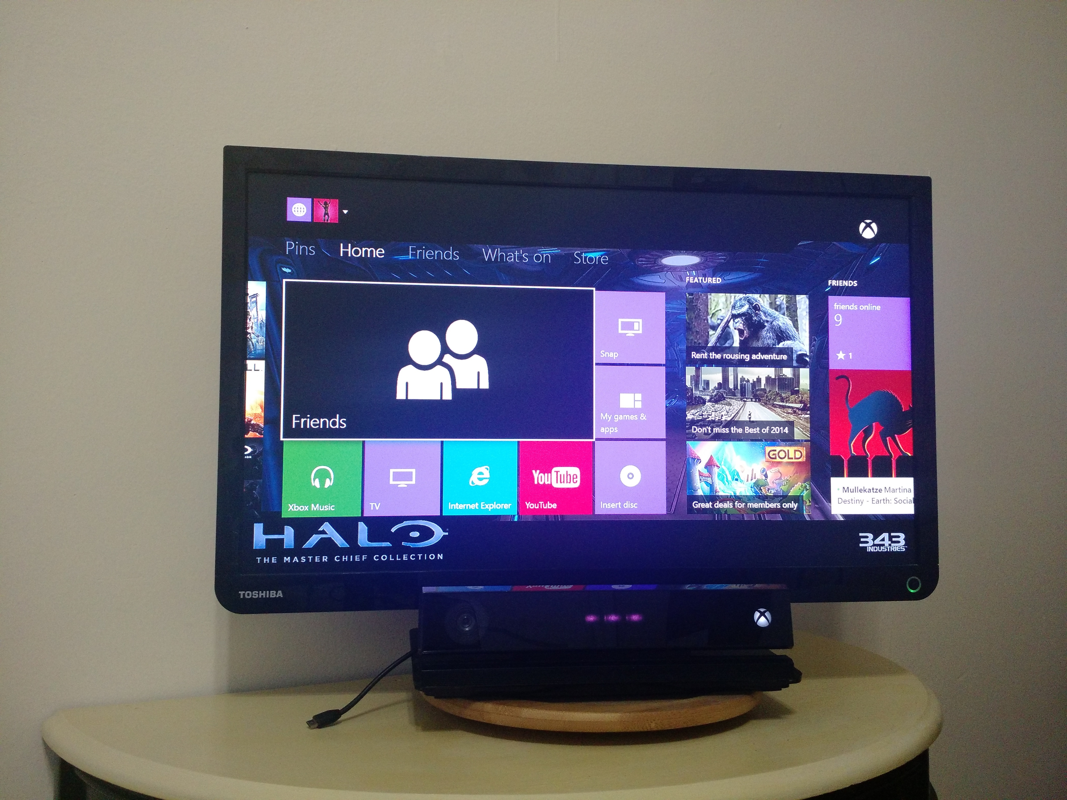 how to hook up your xbox one to your monitor I have a lenovo c540 all-in-one pc and i wanted to know if i can connect my xbox and play through the monitor.