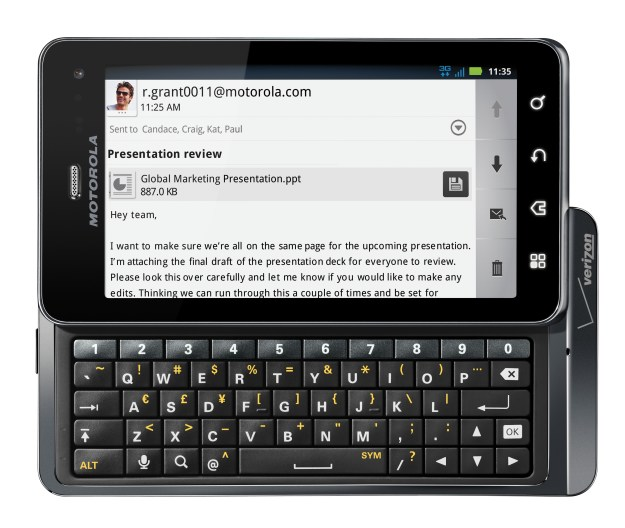 Motorola Droid 3 Keyboard