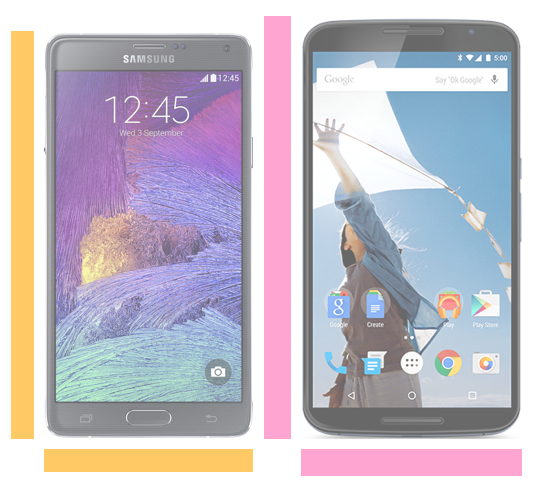 Note 4 vs. Nexus 6.