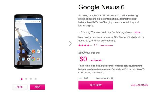 Nexus 6 release date in us in Australia