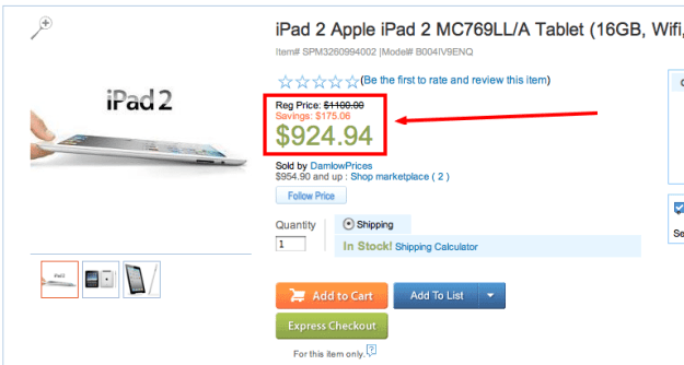 Sears iPad ripoff third party
