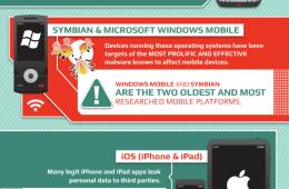 Mobile Malware infographic