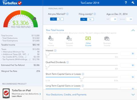 Use a tax calculator app to get a free 2014 tax refund estimate.
